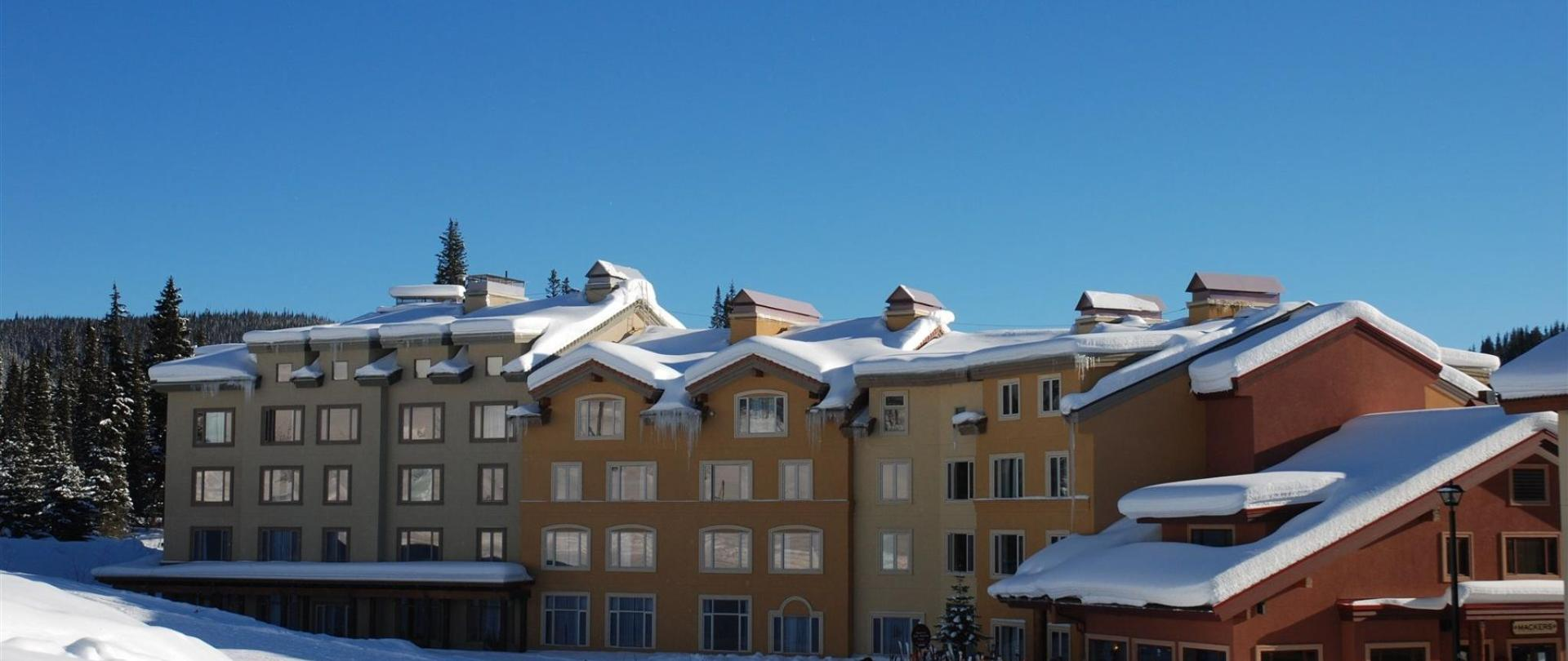 Looking at the hotel from the ski slopes.jpg