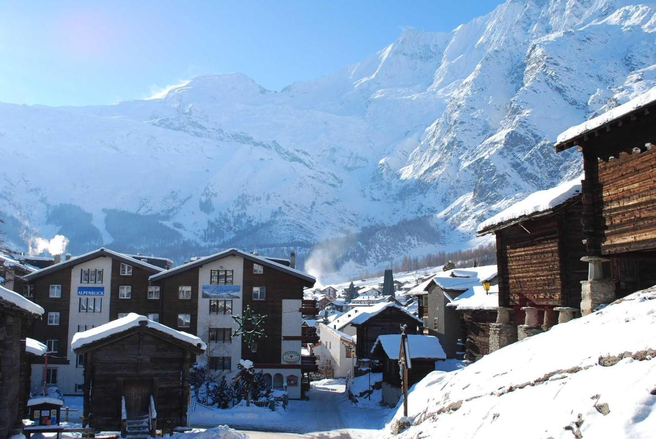 Saas-Fee in winter
