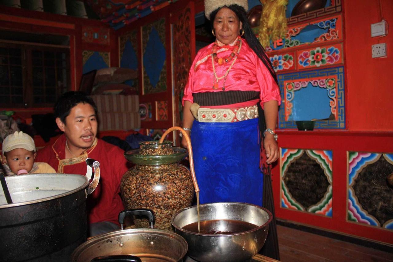 Tibetan barley wine made by Ama.