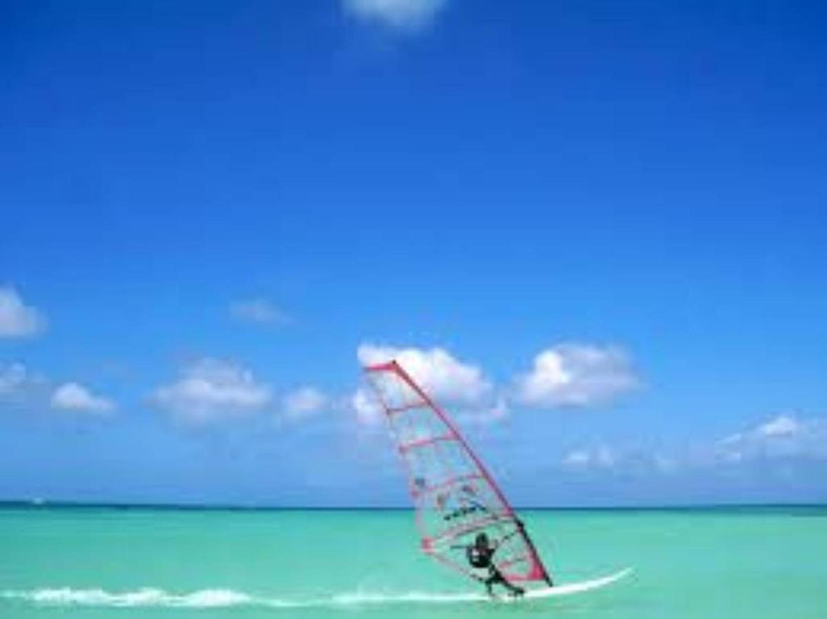 Windsurfing in Aruba takes place right across the street of Boardwalk Hotel, at the Fisherman's huts.jpg