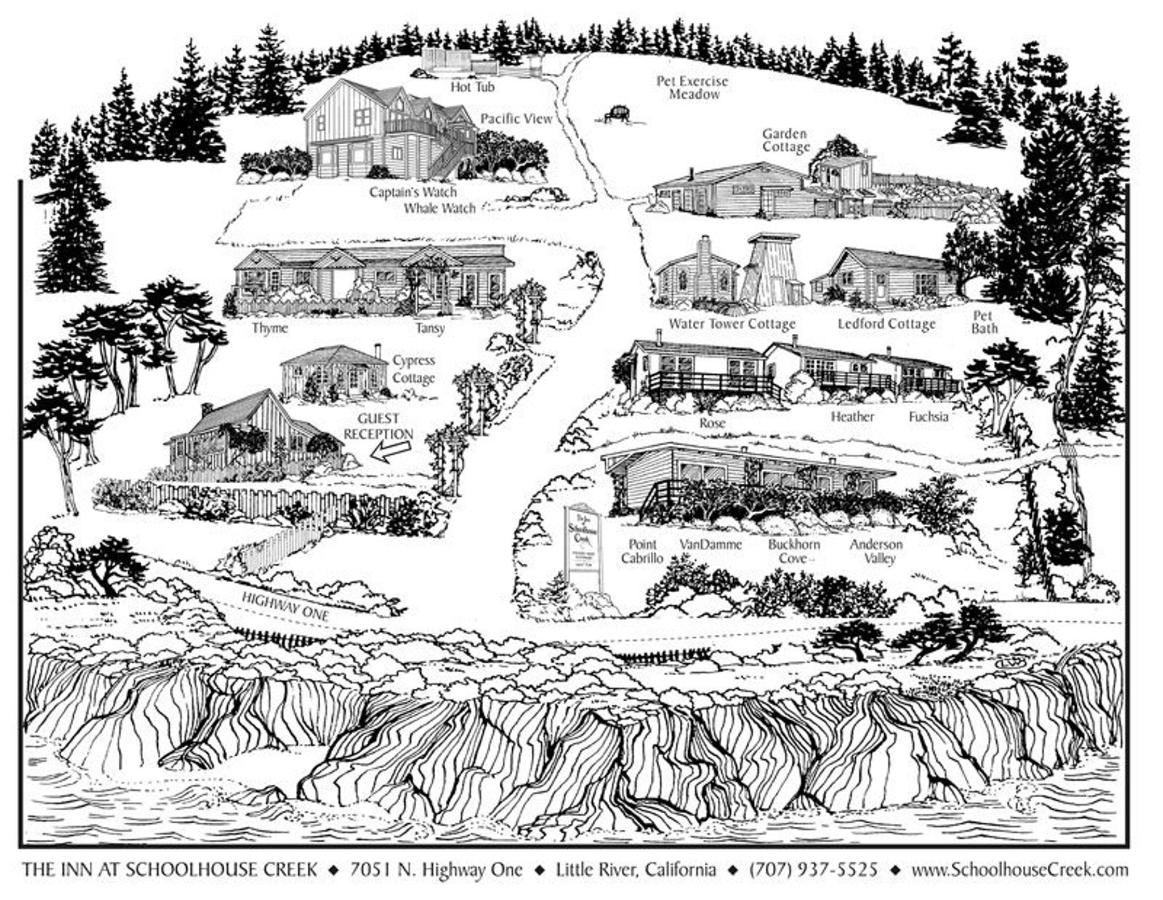 Inn at Schoolhouse Creek Property Map