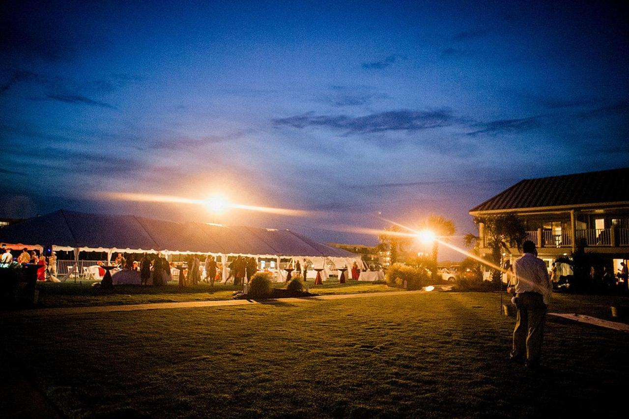 Oceanfront ceremony and tented reception