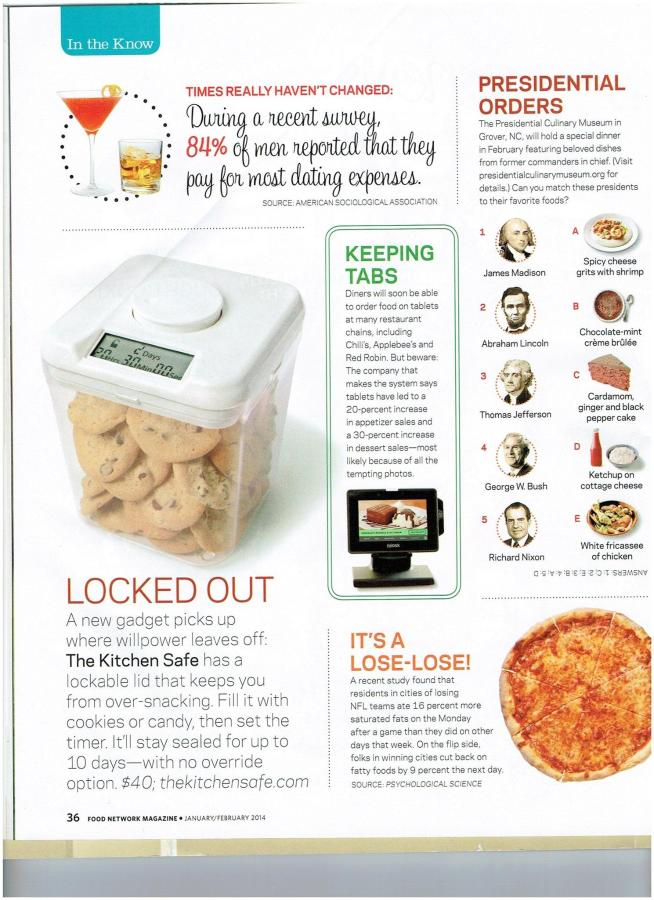 Food Network Magazine January February 2014