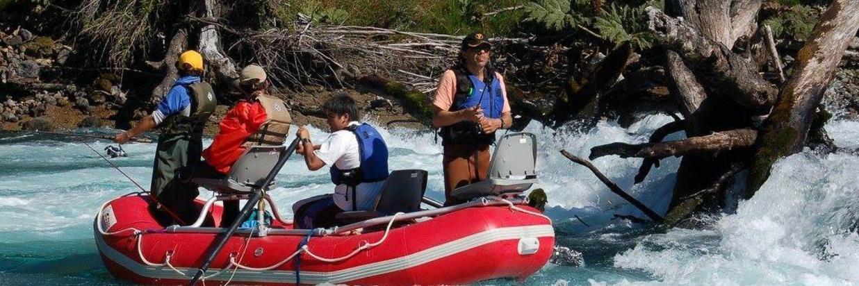 釣魚在Petrohué湖和維森特佩雷茲薔薇國家公園