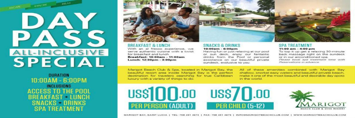 All Inclusive Dinner Pass and All Inclusive Day Pass