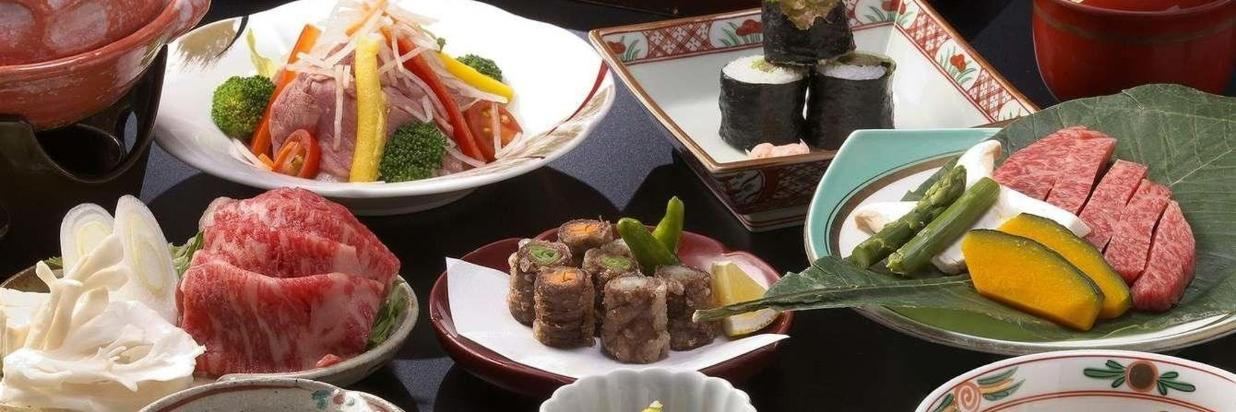 Array of Hida Beef-Centric Meal Package