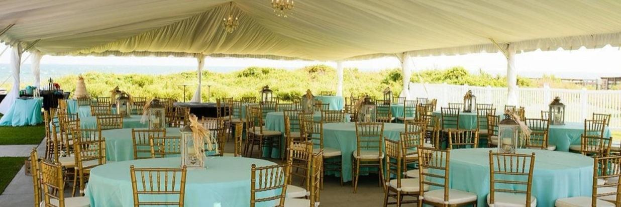 Wedding Reception Tent and Tables