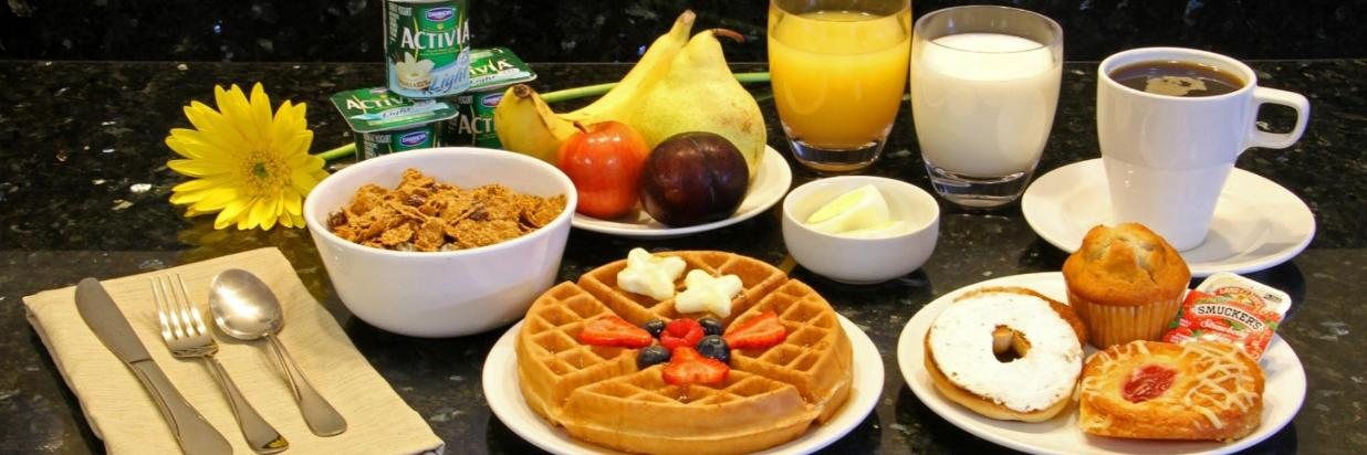 Complimentary breakfast at Comfort Inn
