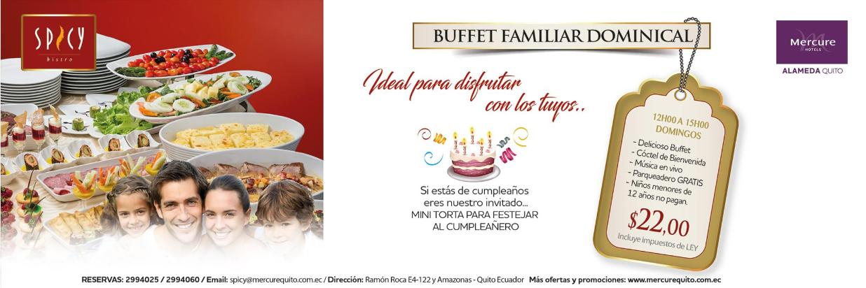 Buffet Familiar Dominical