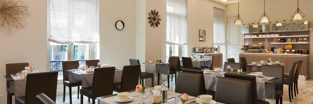 Petit dejeuner Hotel La Malmaison Nice