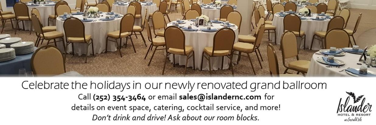 Host your holiday party in our grand ballroom