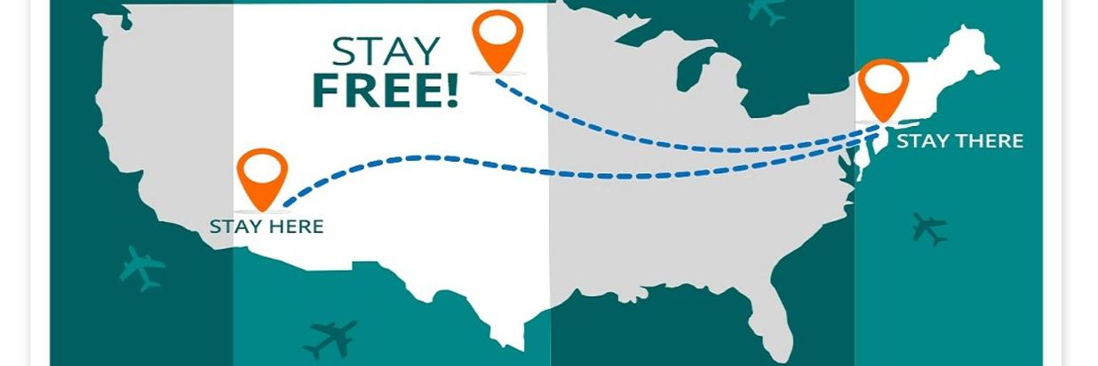 STAY HERE. STAY THERE. STAY A NIGHT FOR FREE!