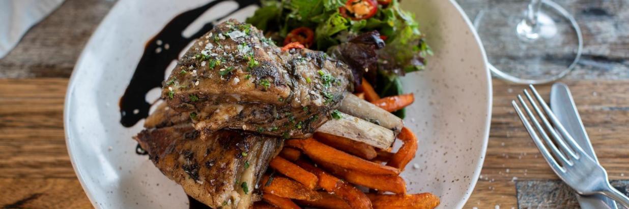 Lodge Cafe - Lamb Ribs & Sweet Potato Fries.jpg