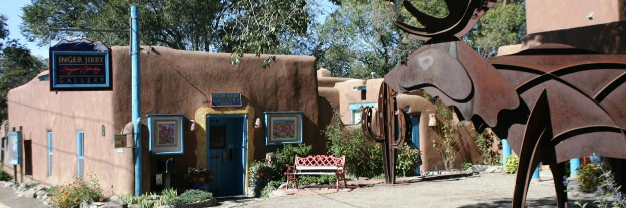 Inger Jirby gallery is one of the many delightful galleries around Taos