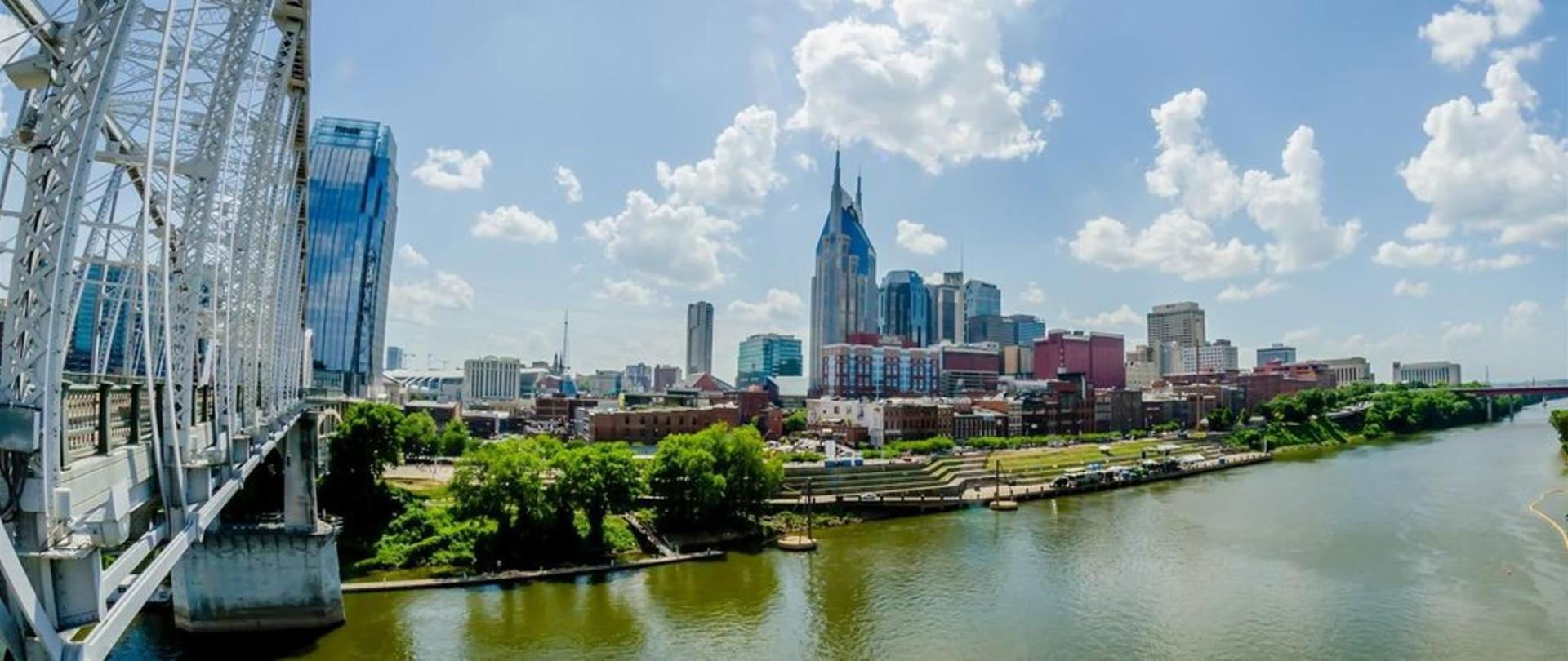 City view of Nashville Riverfront