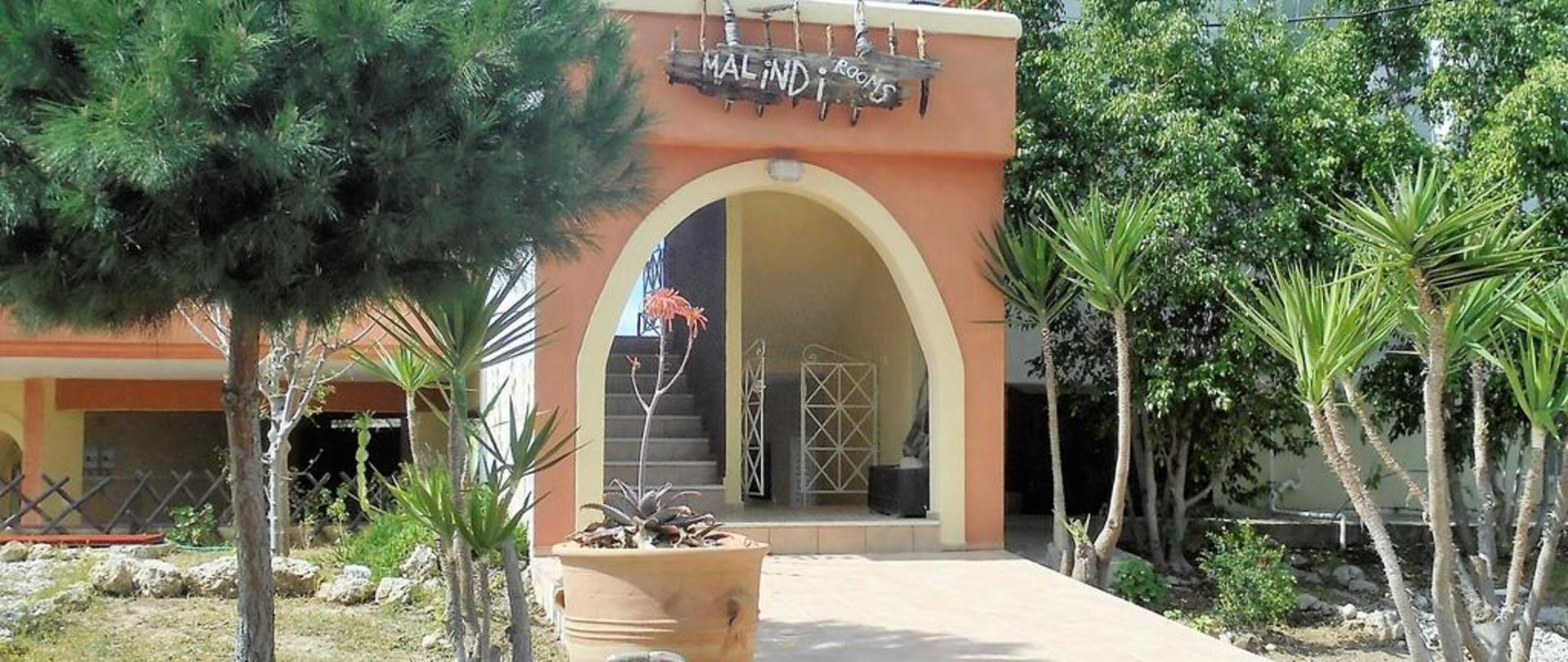 Malindi Rooms entrance