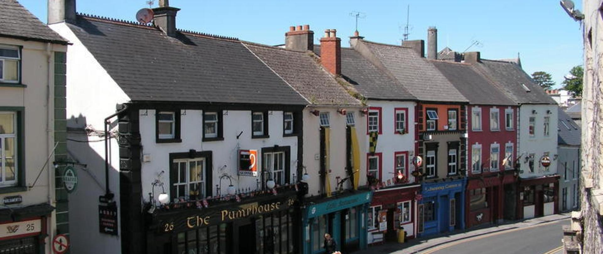 The View of the Parliament Street Pubs From Kilkenny Tourist Hostel