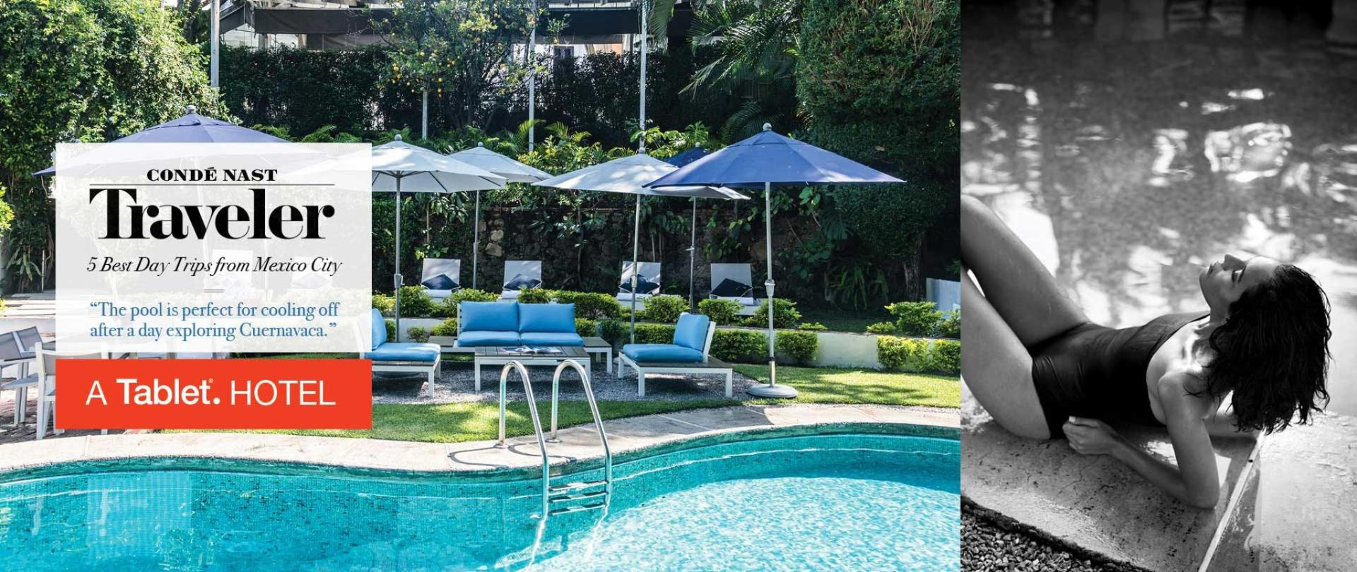 Piscina climatizada. Las Casas B+B Boutique Hotel, Spa & Restaurante. The best boutique bed and breakfast hotel in Cuernavac