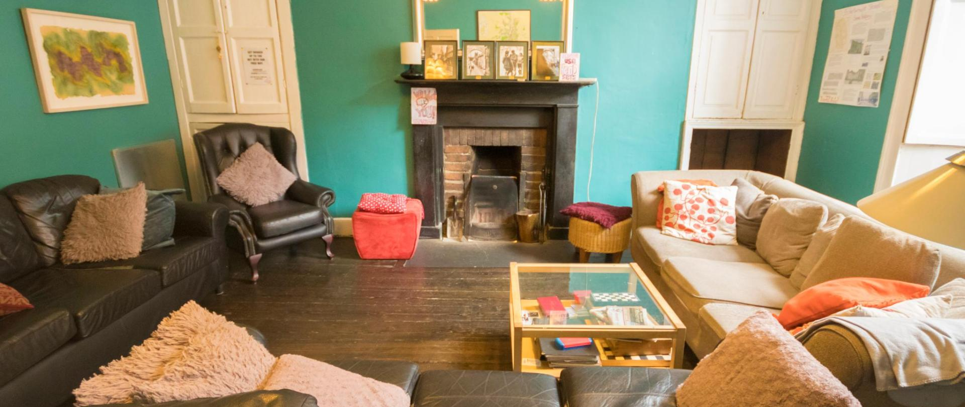 Relax in our Cosy Sitting Room at Kilkenny Tourist Hostel
