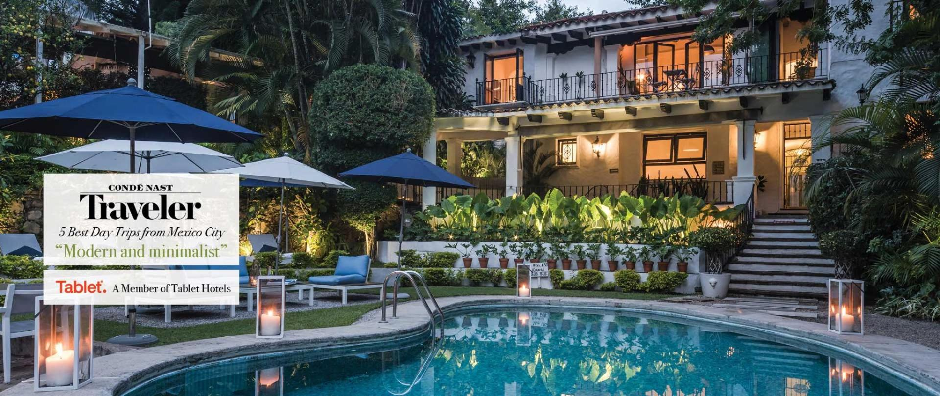 Perfect location in downtown. A few walking steps from the iconic Palace Of Hernan Cortes.  Las Casas B+B Boutique Hotel, Spa  & Restaurant in Cuernavaca.