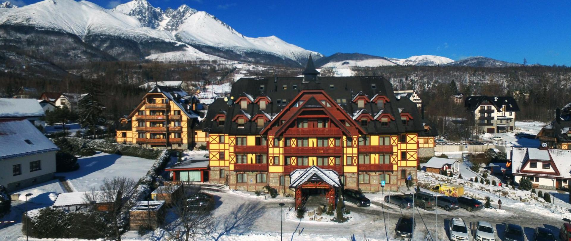 Family apartments in a mountain hotel