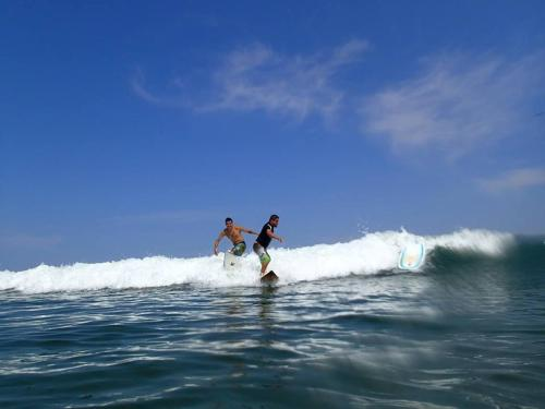 Surfing Near Playa Viva