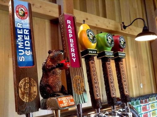 Tap handles  at Woodchuck cidery