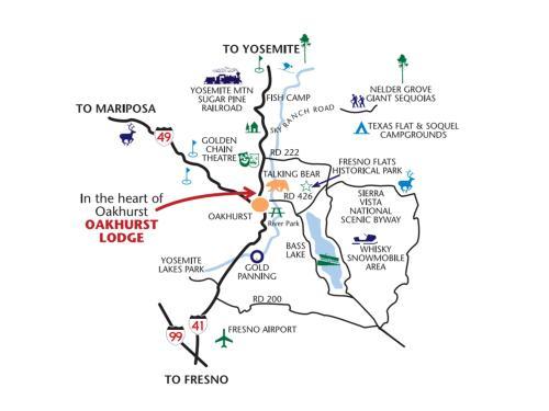 Highway 41 California Map.Explore Oakhurst Lodge Oakhurst Ca