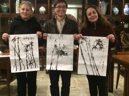 16 mars 2017 Aroma Tea House Painting Class