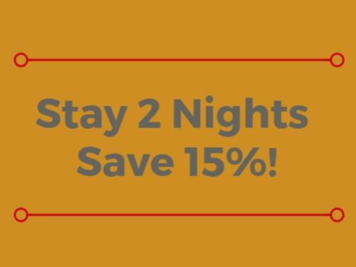 Stay 2 Nights Save 15%