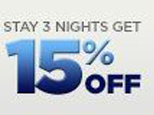 Stay 3 Nights Get 15% Off