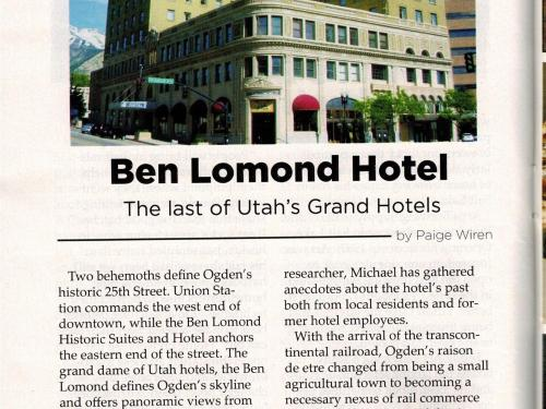 History of Ben Lomond Suites