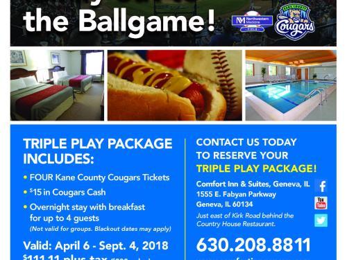 Triple Play Package - Kane County Cougars @ Northwestern Medicine Field