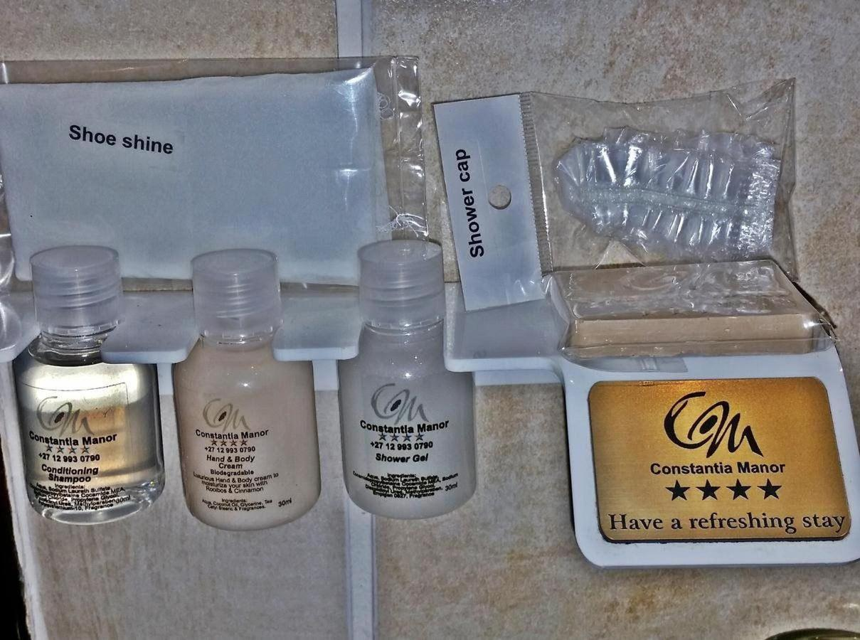 Amenities in all rooms at Constantia Manor Guesthouse