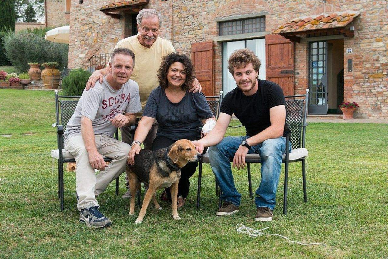 Colin Dutton (fotografo) e Donatella, Mauro, Stefano e Greta