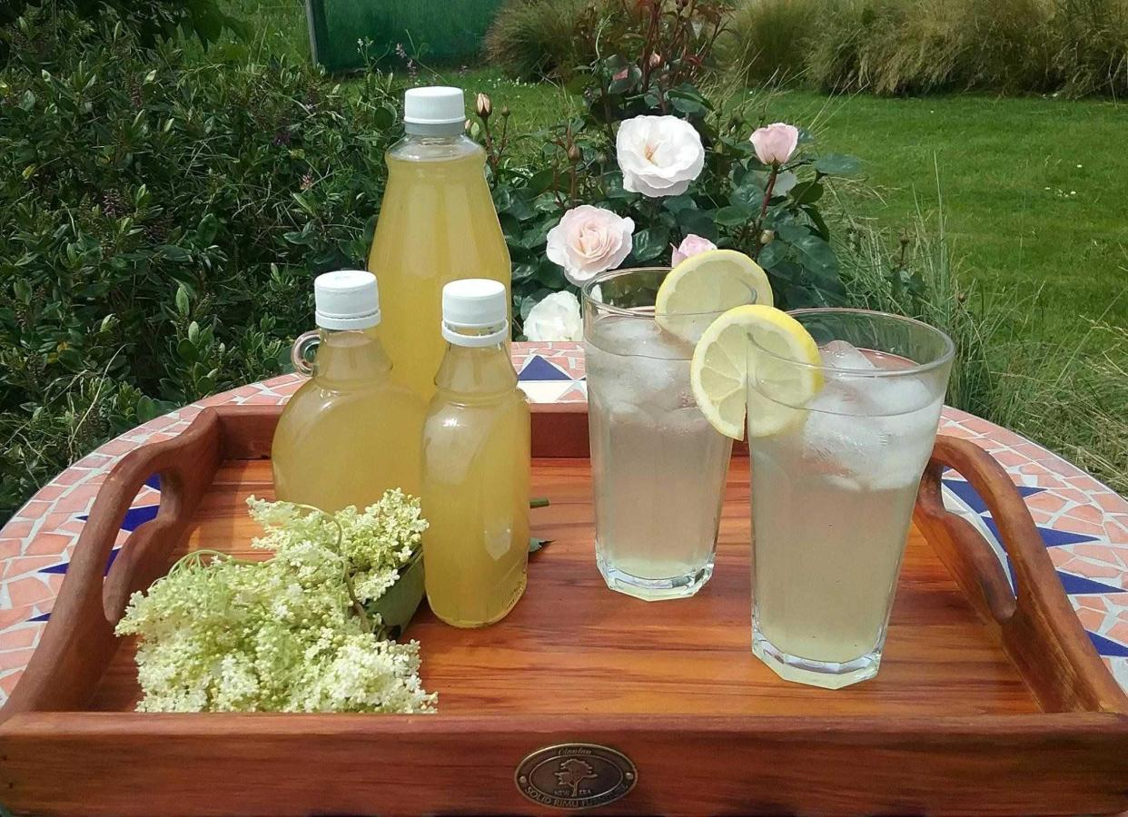 Elderflower cordial made from our elderberry trees.jpg