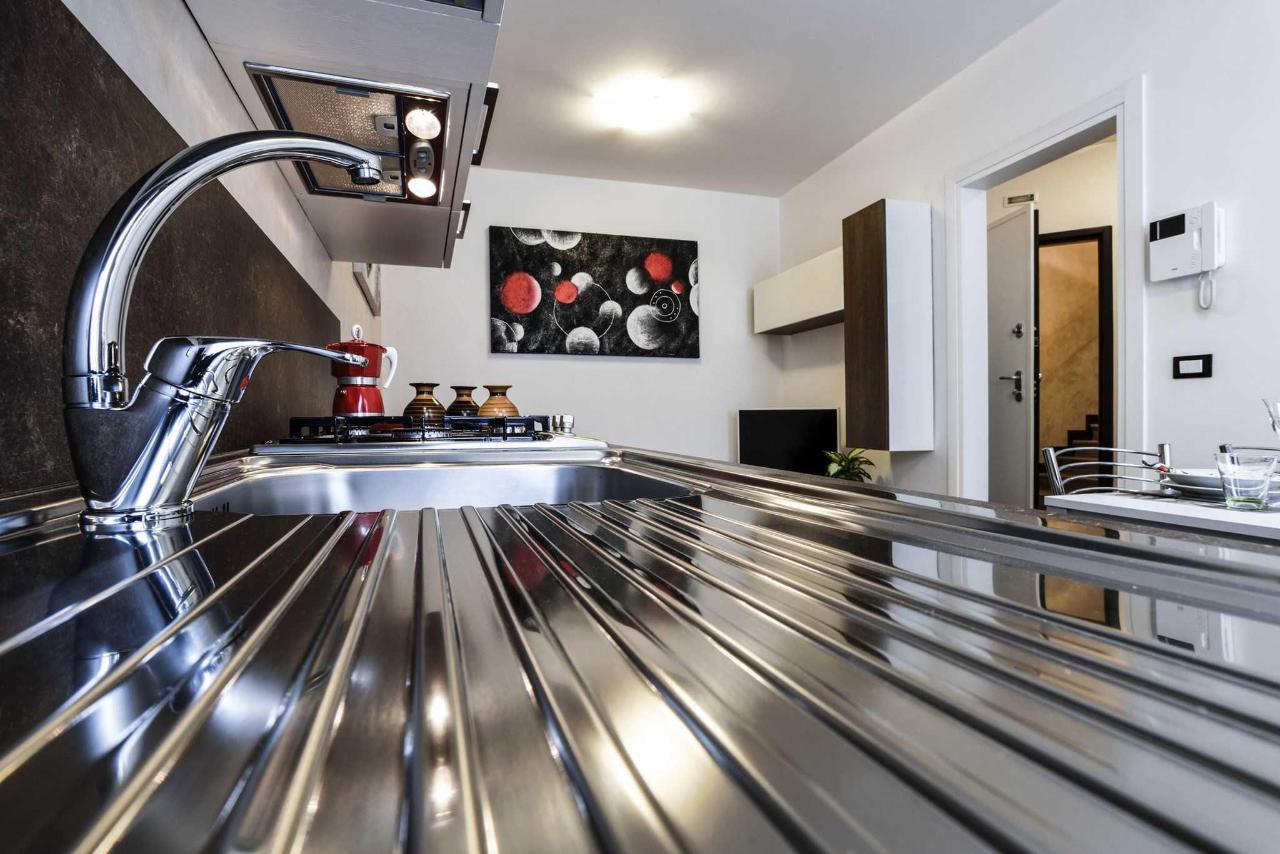Dettaglio soggiorno e cucina