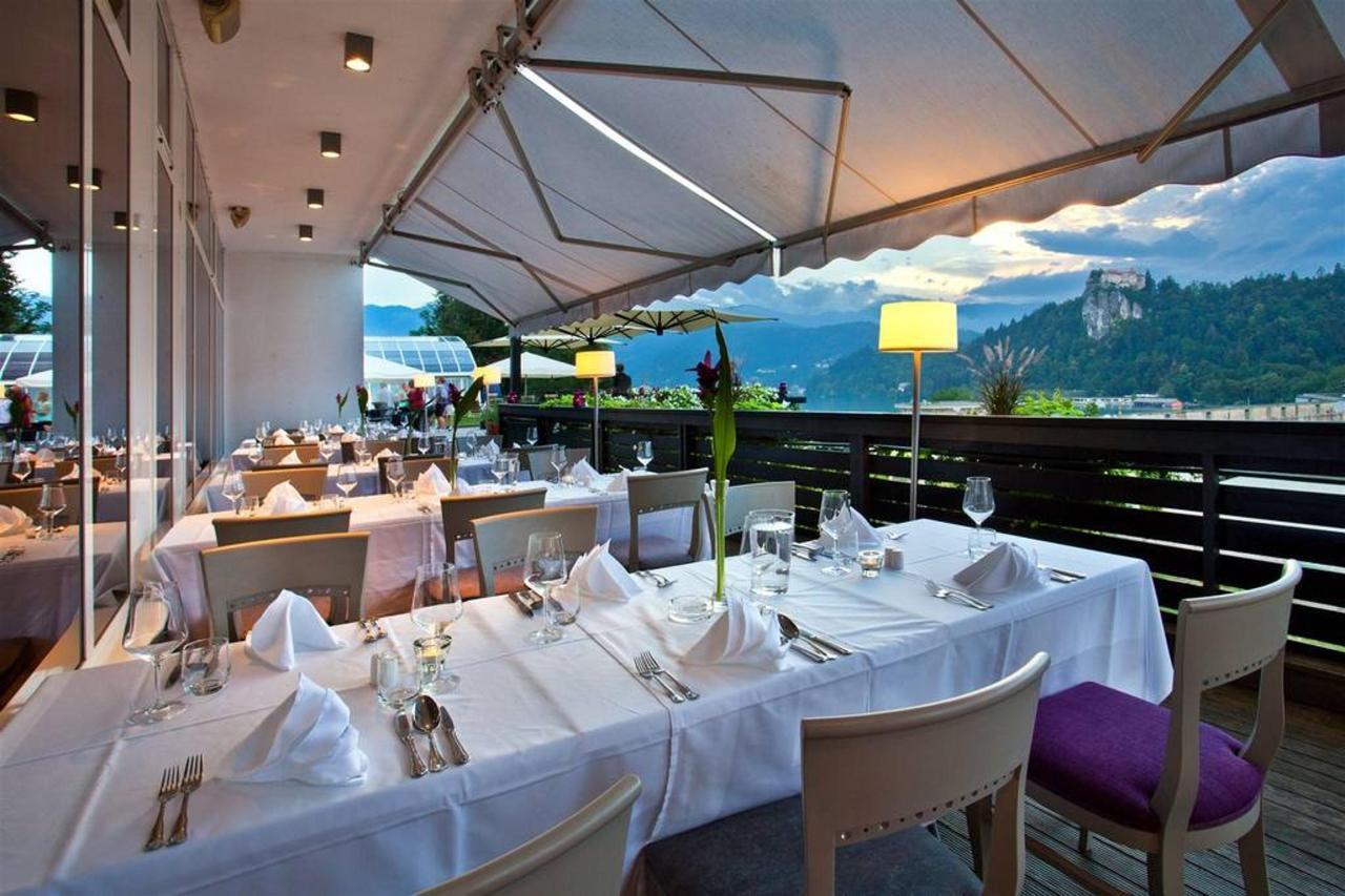 Hotel Kompas Bled - terasa s panoramo