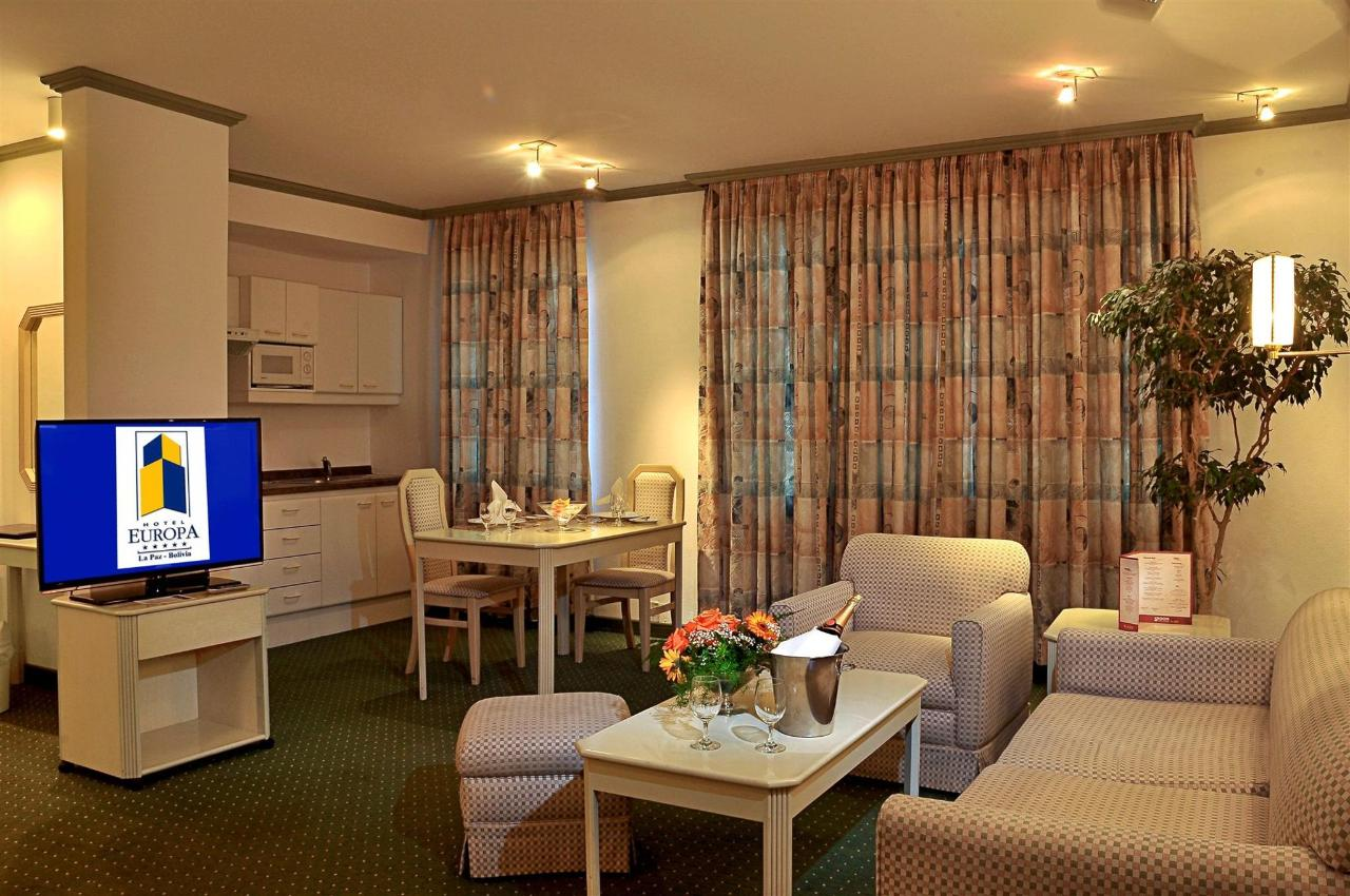 Living room and Kitchenette of the Residence Suites