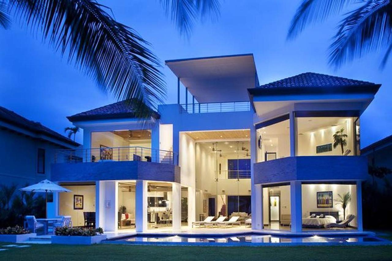 Casas frente a la playa