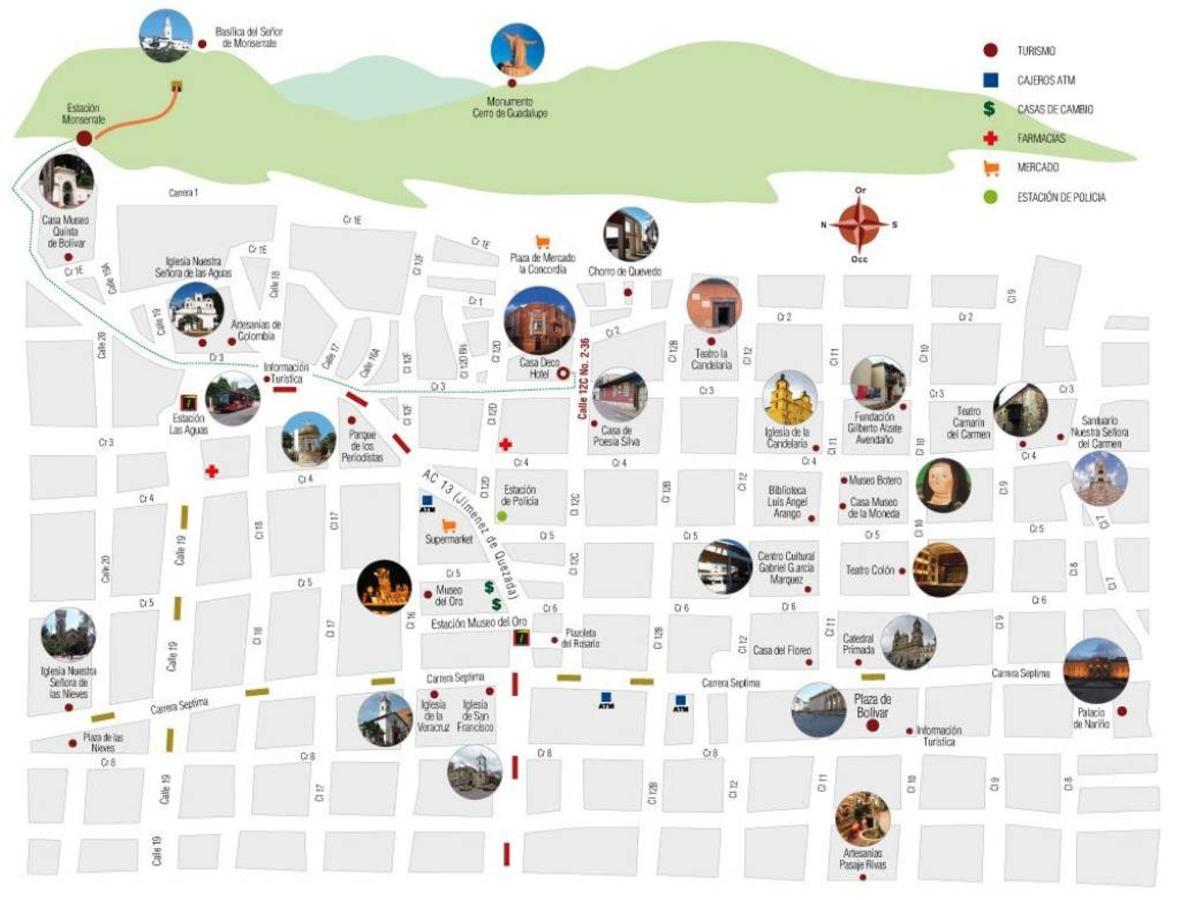 Kaart, Bogota, colombia.jpg