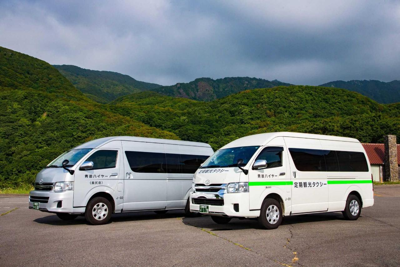 島内では無料送迎バスのサービスもあり。
