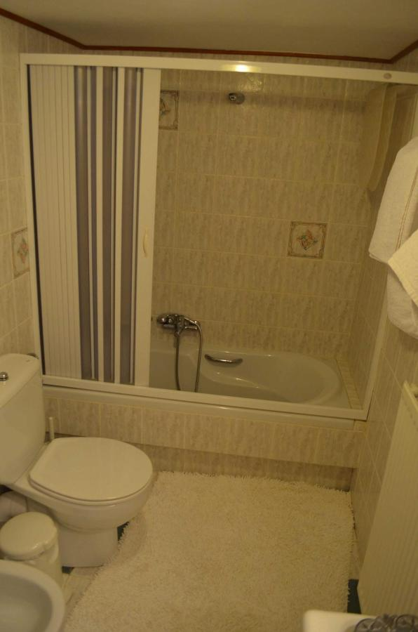 One of the three bathrooms