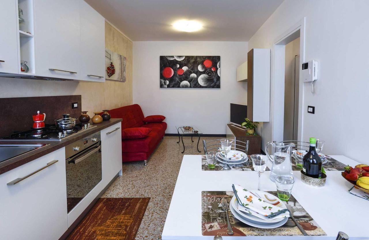 Kitchen and living room