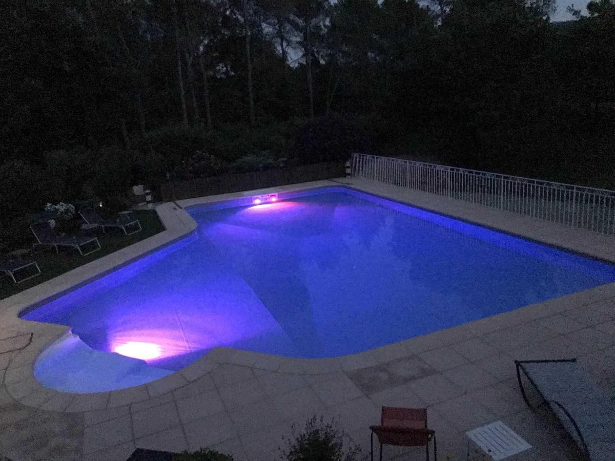 Multicolored illuminated pool, Villa Victoria Aix en