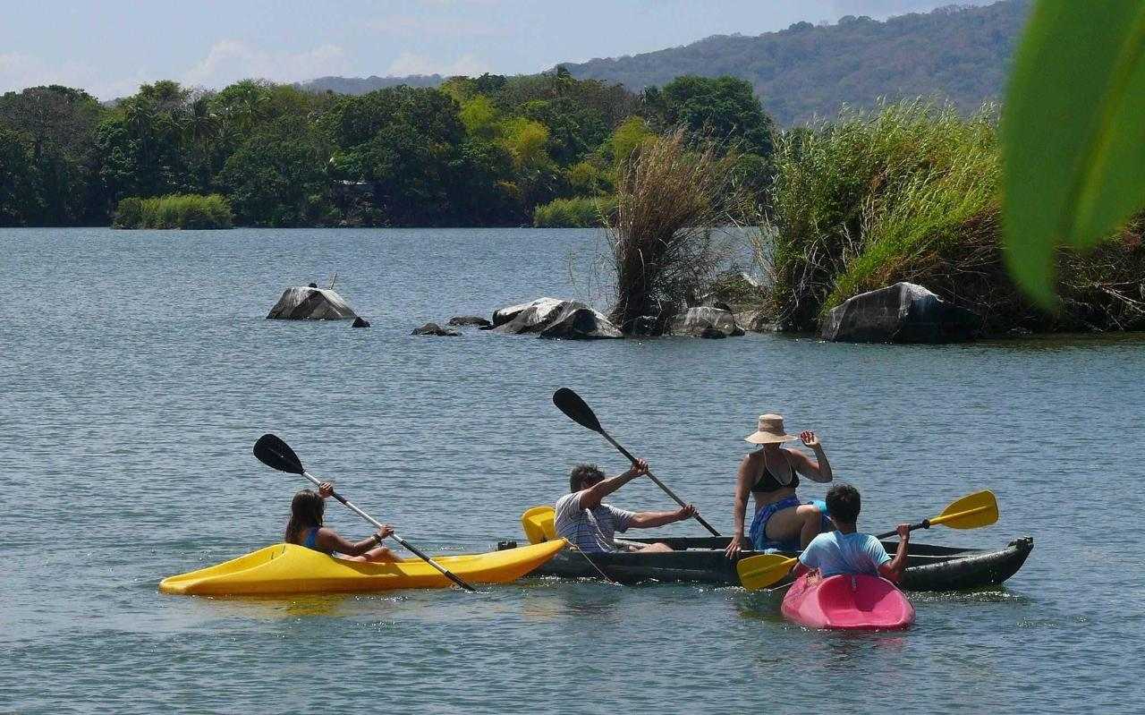 Family kayaking is fun and safe at Zopango private Island!