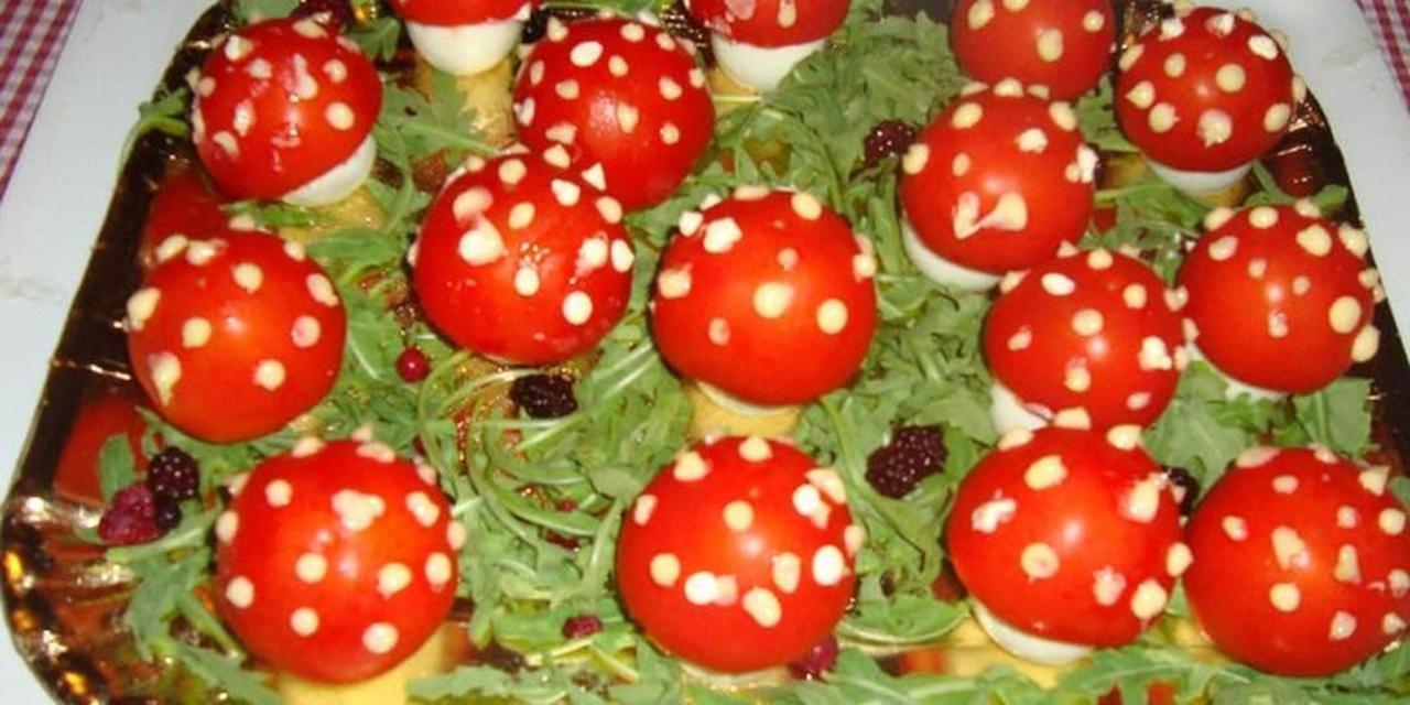 Insalata di bosco con funghetti