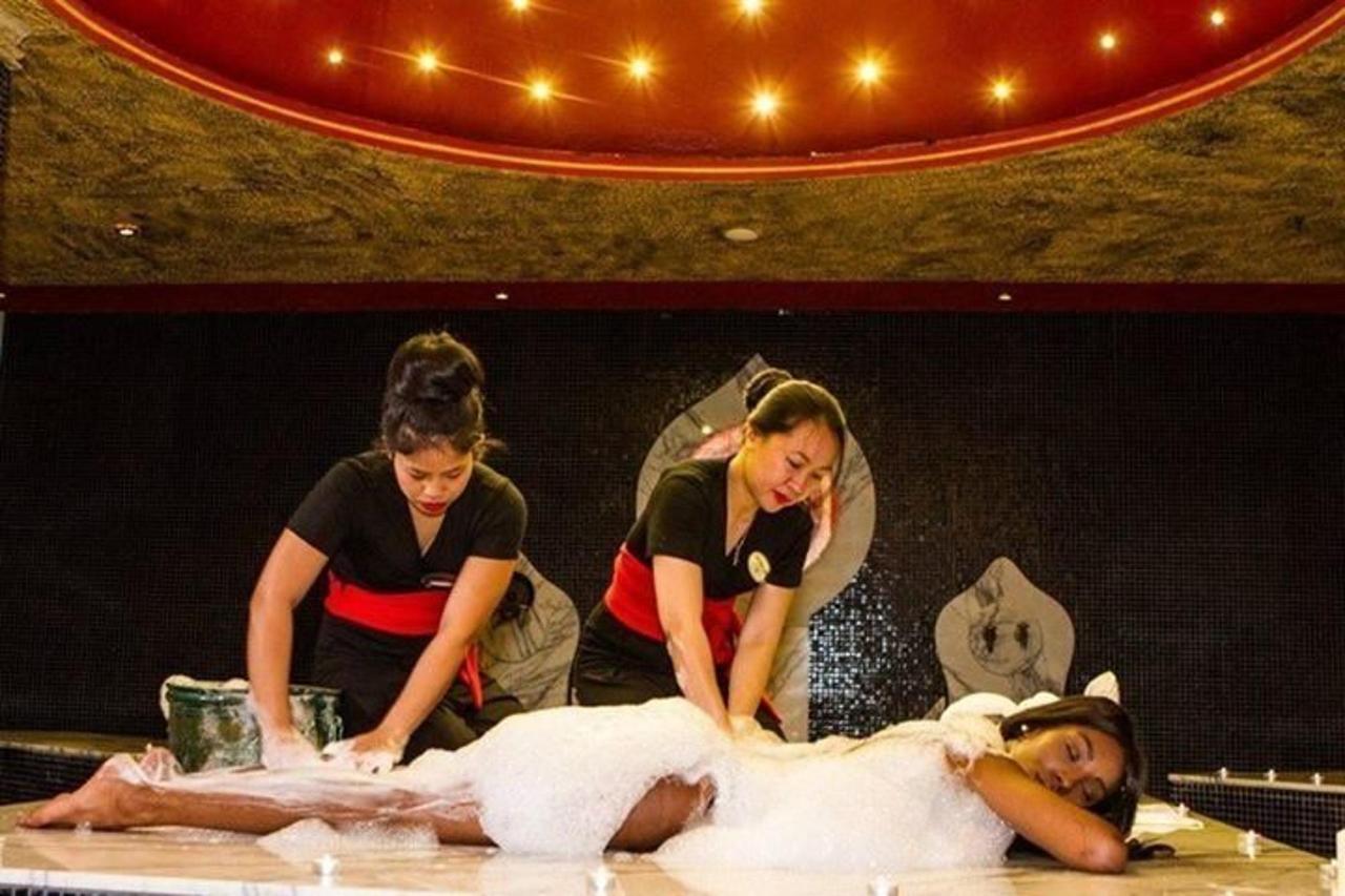 Exotic Bali massage in the Turkish bath with foam.JPG