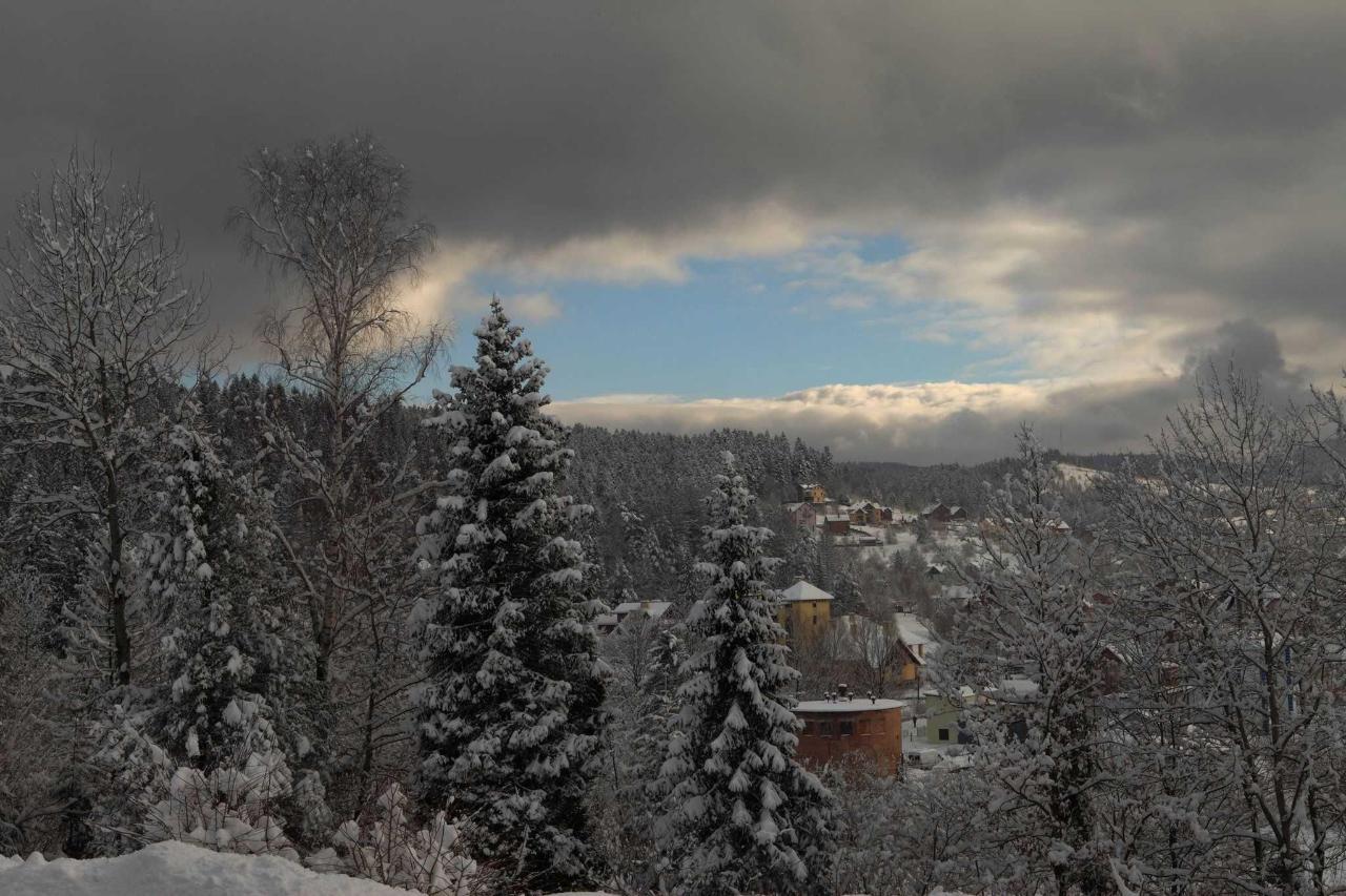 Вид на Сходницу и горы с окон и террас