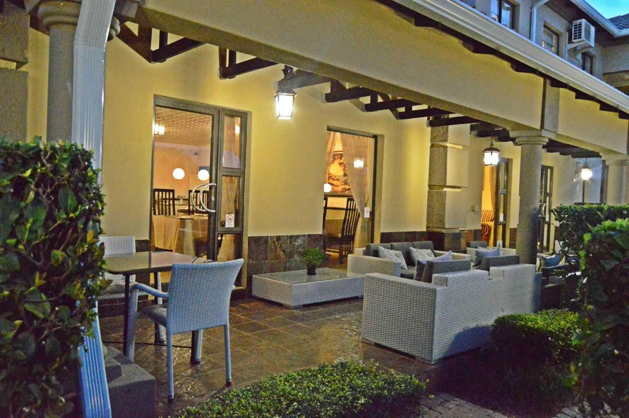 Outside Patio at Constantia Manor Guesthouse